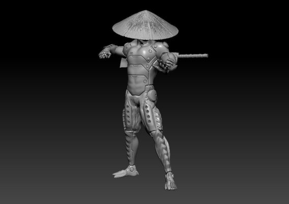 Cybernetic Monk Printable Model Final