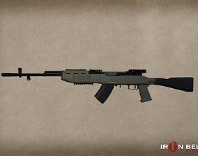 3D model AAA SKS Modern Carbine Assault Rifle