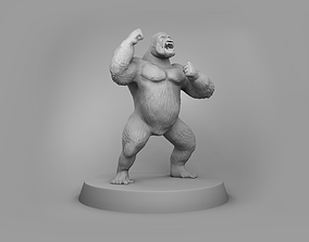 3D printable model African gorilla
