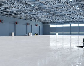 Airplane Hangar Interior 6 3D asset
