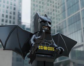3D model VR / AR ready Lego batman