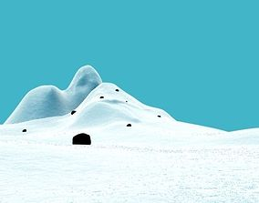 SNOW BG with snow material 3D