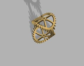 3D printable model Steampunk Themed Gear Ring