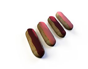 Eclaire patisserie 3D model