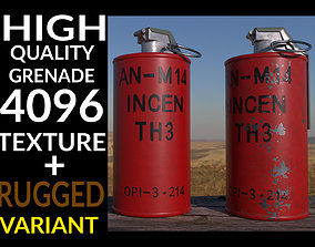 3D asset Grenade AN-M14 TH3 Incendiary