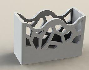 Wave Pen Holder Crystal 3D print model