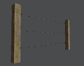Wood Fence 3D model realtime PBR