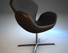 Armchair Swan 3D model