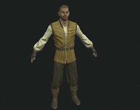 3D model villager character