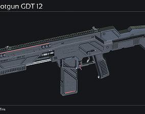 3D model Scifi Shotgun GDT 12