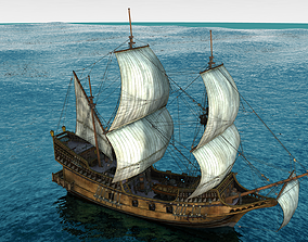 Golden Hind Ship 3D model