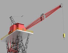 Tower Crane high precision industrial site crane 3D model