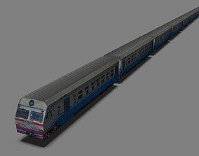 3D asset Suburban train RUS UA