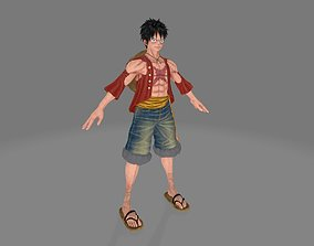 One Piece charater Luffy 3D print model