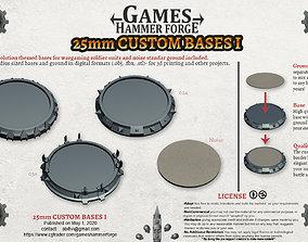 25mm Custom Bases 1 3D print model