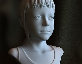 3d printable sculpture Sarah STL OBJ