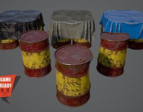 OIL BARRELS Game Ready LowPoly 3D model