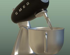 smeg mixer SMF02BLUK 3D asset