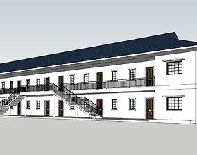 3D model 8 Unit Apartment Affordable Social Housing 1