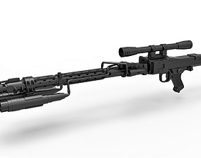 3D Death Trooper Blaster Rifle DLT-19D from Star Wars