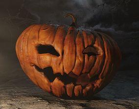 Lamp Jack Halloween pumpkin 3D asset