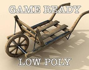 3D model Old Wheel Barrow