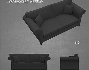 Couch sofa 3 seat architectural 3D asset