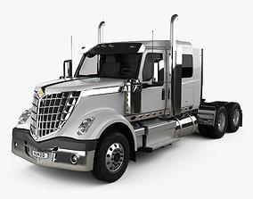 International Lonestar 56 LR Sleeper Cab Tractor Truck 3D