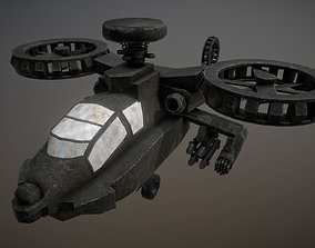 Apache helicopter 3D asset