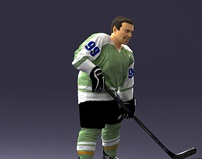 Hockey player 0285 3D Print Ready