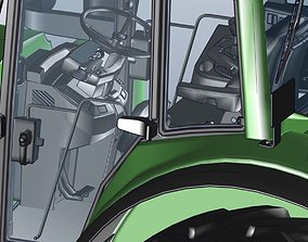 tractor with all part also with engine 3D model