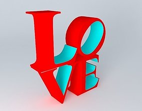 3D Love sculpture