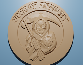 Son Of Anarchy relief model in stl format 3D for CNC