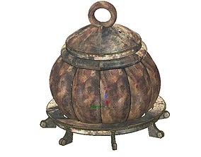 real witch pot for magic ritual for 3d-print or cnc