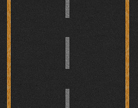 Road Texture seamless 3D model realtime