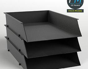 Document trays 3D model
