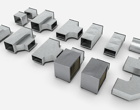 3D model Modular Square Air Conditioning