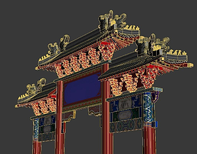 decorated archway torii 3D