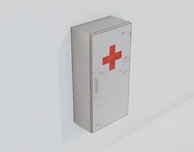 3D asset realtime Medical Cabinet - Low-poly PBR