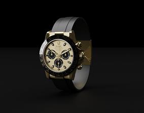 3D model Rolex Cosmograph Daytona Gold and Black Luxury