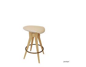 3D Starbucks bar chair