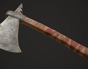 3D asset Tomahawk Axe melee weapon