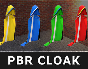 3D asset UV Mapped PBR Hooded Cloak