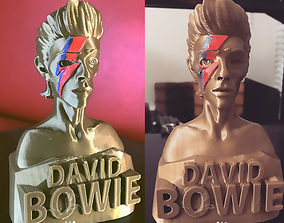 3D printable model David Bowie Cartoony Style