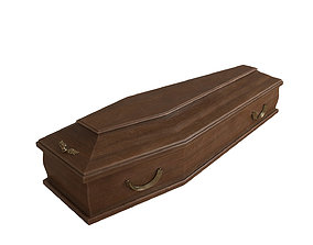 3D model Classic wooden coffin