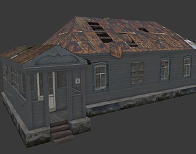 3D model game-ready Old Village House 2