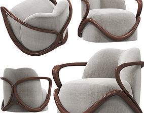 3D wood Giorgetti HUG armchair