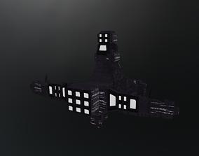 LowPoly spacecraft 3D model