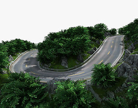3D Mountain Road 01