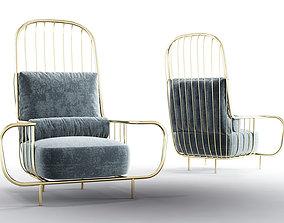 3D model Bessa LIBERTY High Back Luxury Armchair